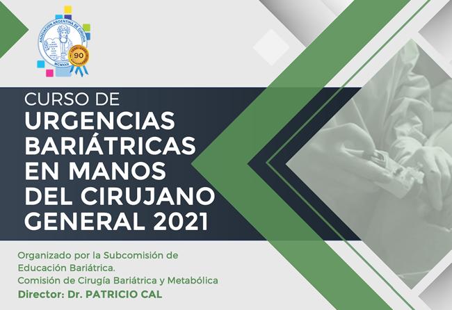 Curso de urgencias bariátricas en manos del cirujano general 2021